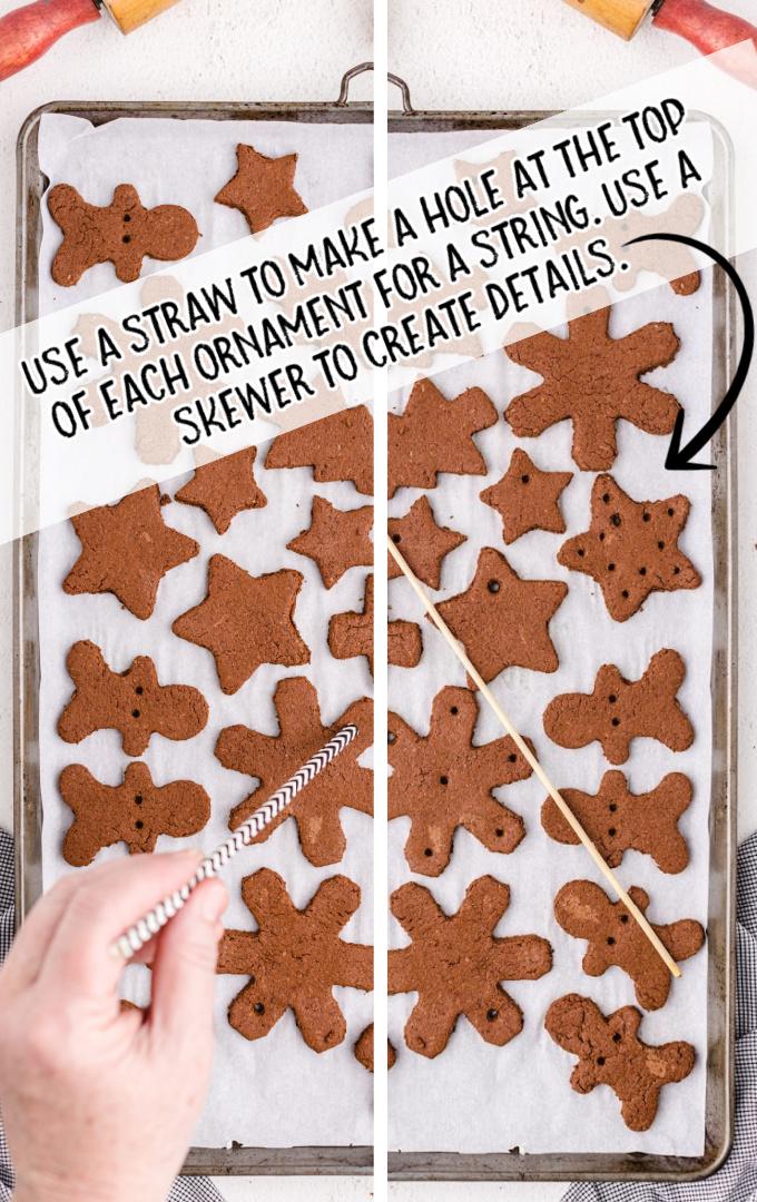 cinnamon ornaments process shot