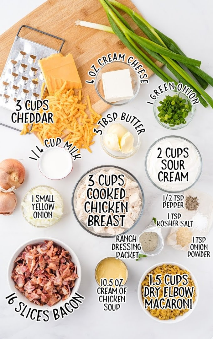 crack chicken casserole raw ingredients that are labeled