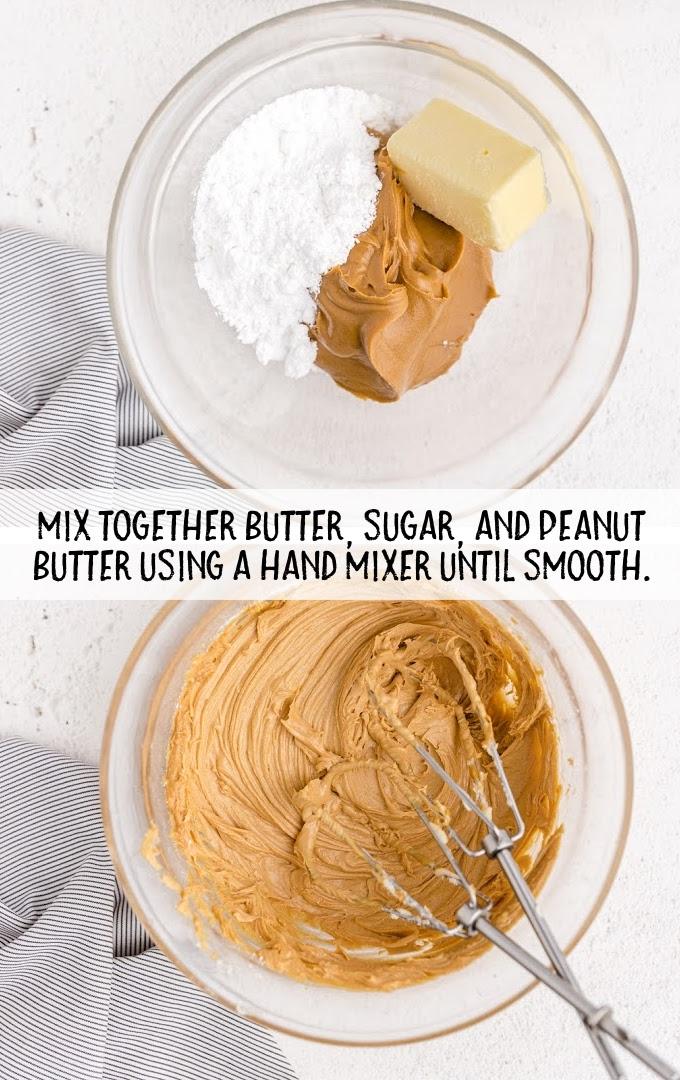 homemade peanut butter cups process shot