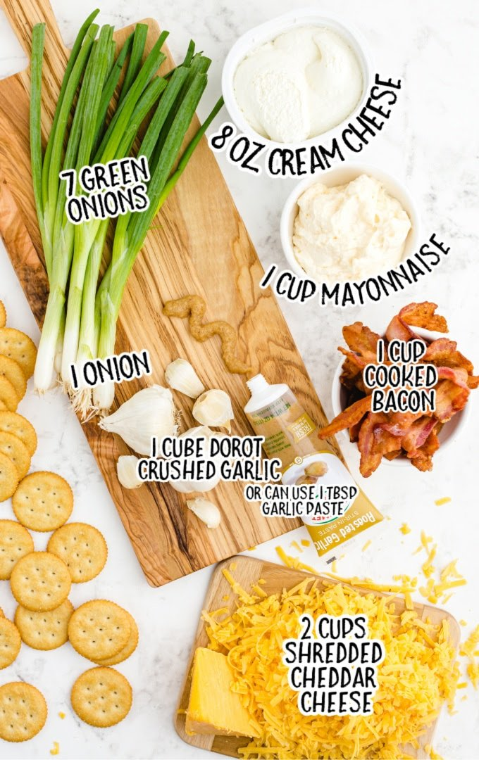 million dollar dip raw ingredients that are labeled