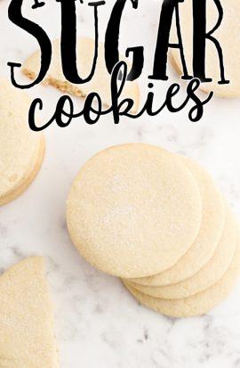 overhead shot of no spread sugar cookies