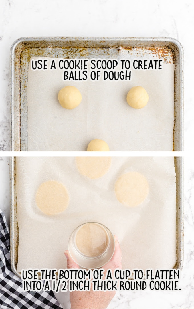 no spread sugar cookies process shot