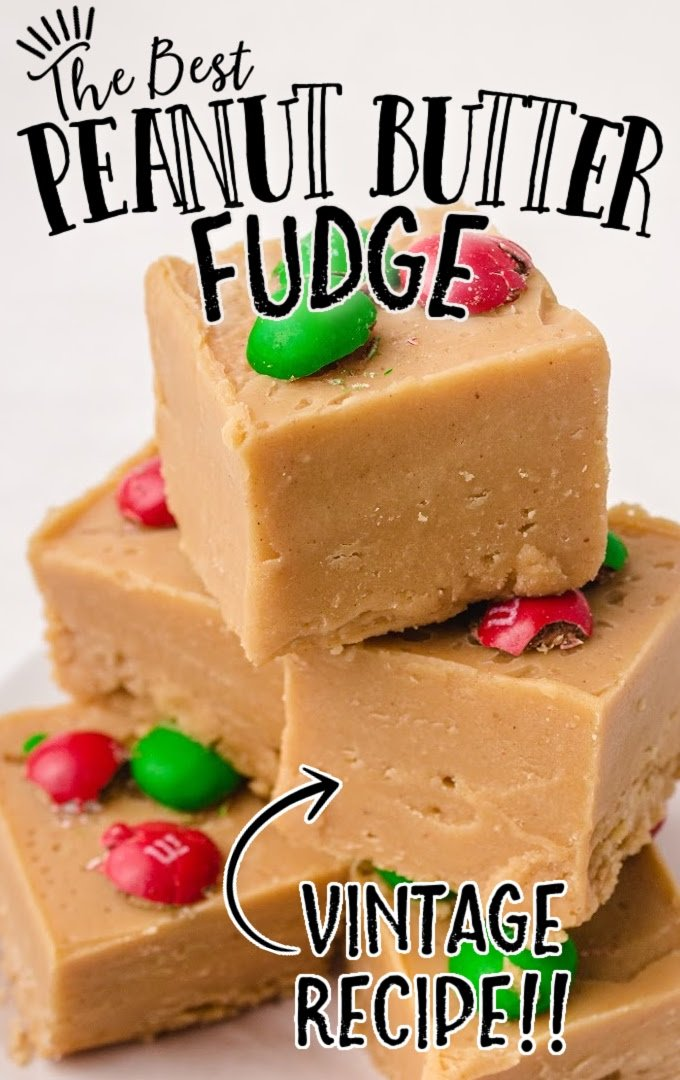 peanut butter fudge stacked on top of each other