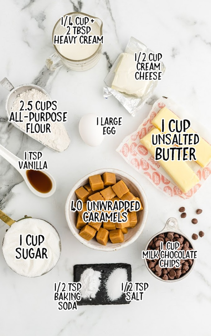 twix cookies raw ingredients that are labeled