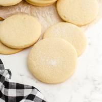 close up shot of no spread sugar cookies