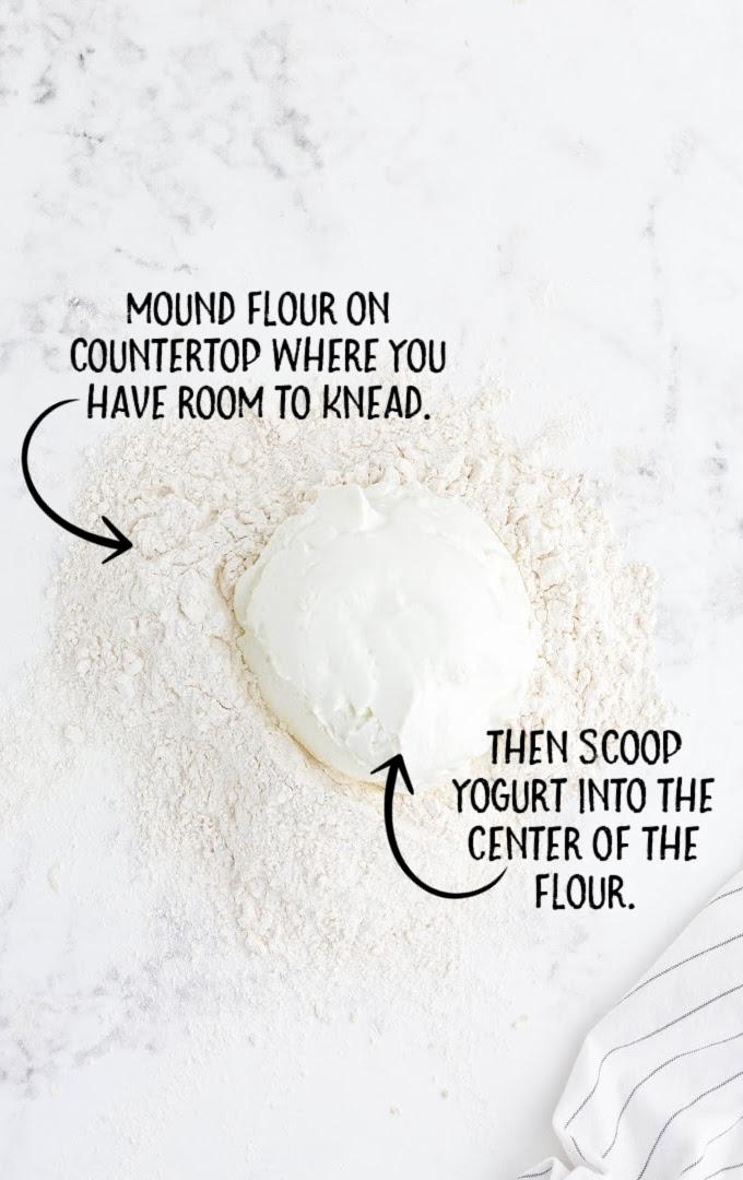 2 ingredient bagels process shot