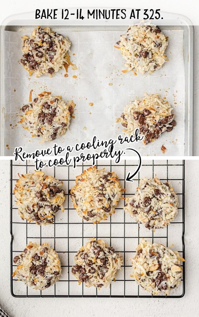 almond joy cookies process shot