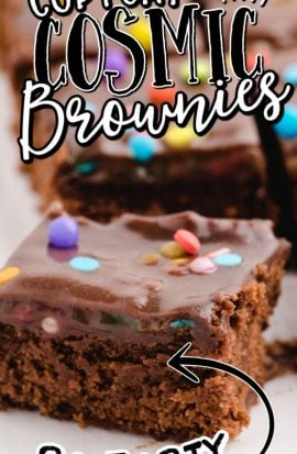 close up shot of cosmic brownies