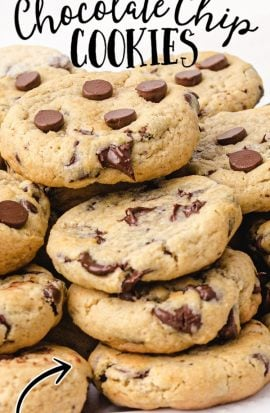 close up shot of cream cheese chocolate chip cookies on a white plate