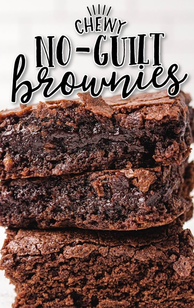 close up shot of egg white brownies stacked on top of each other