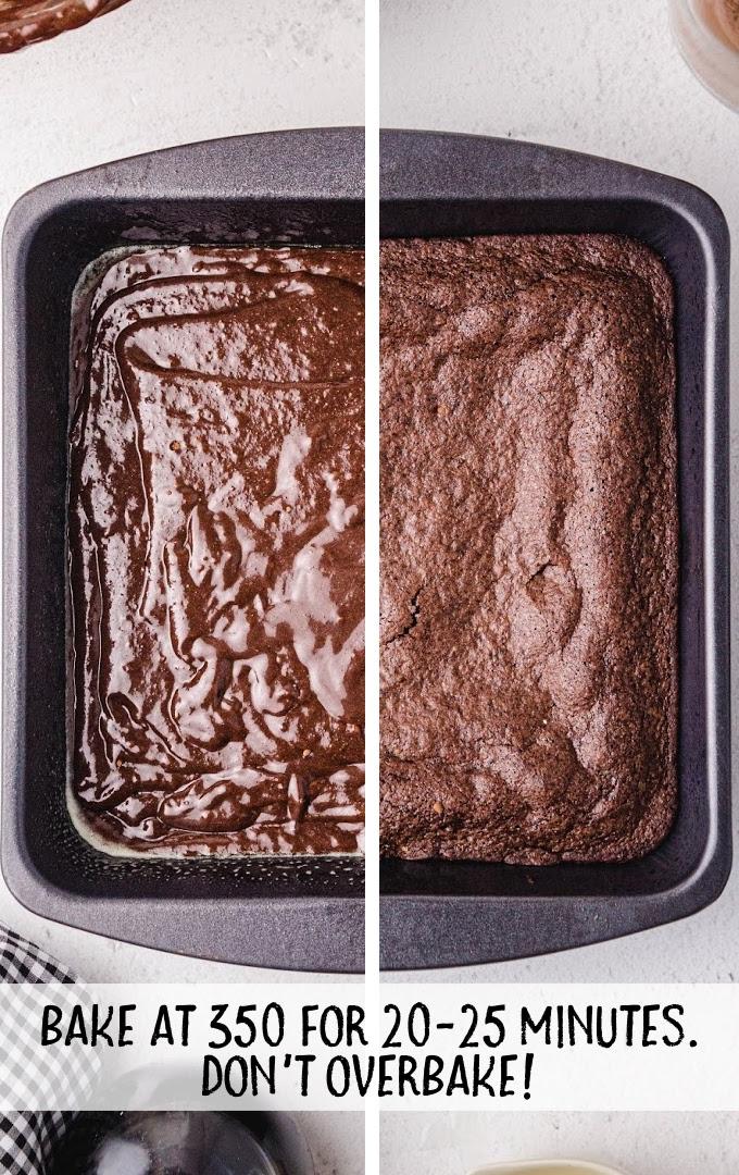 egg white brownies process shot