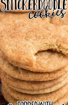 snickerdoodle stacked on top of each other on a white plate
