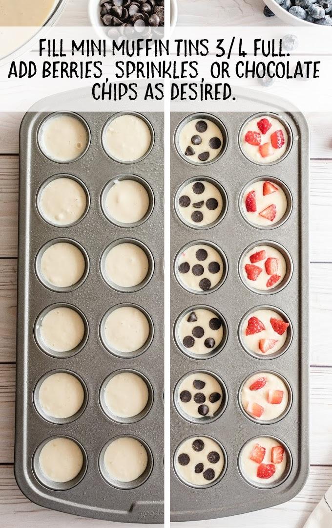 mini pancakes process shot