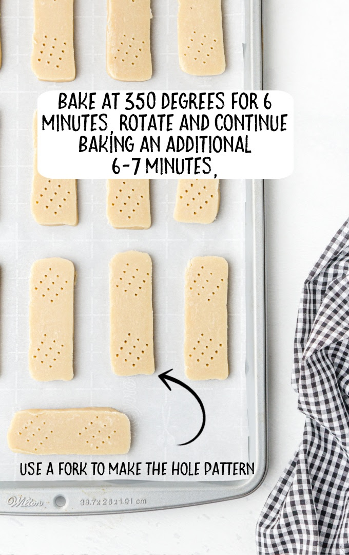 shortbread cookies process shot