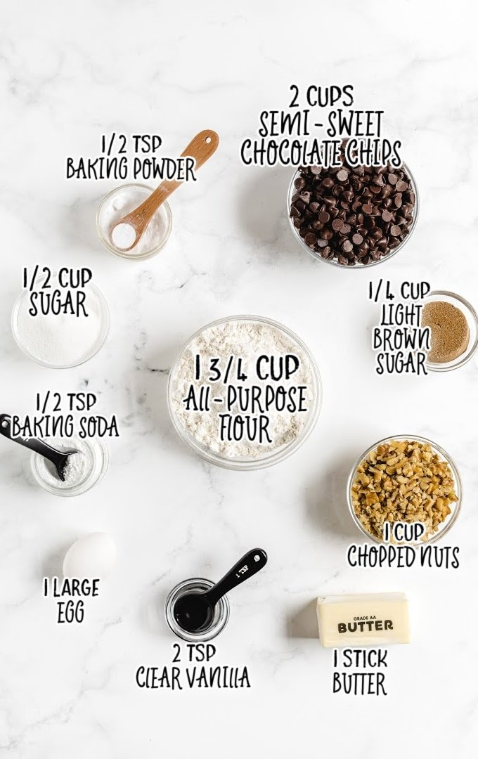 tollhouse chocolate chip cookies raw ingredients that are labeled