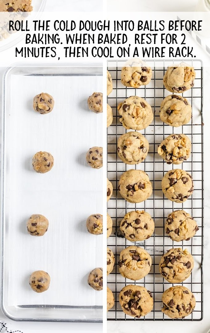 tollhouse chocolate chip cookies process shot