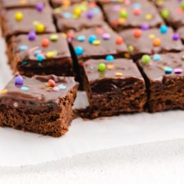 close up shot of cosmic brownies