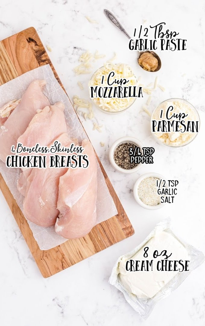 creamy garlic parmesan chicken raw ingredients that are labeled