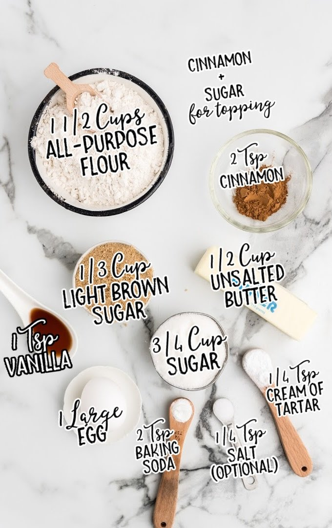 snickerdoodle raw ingredients that are labeled