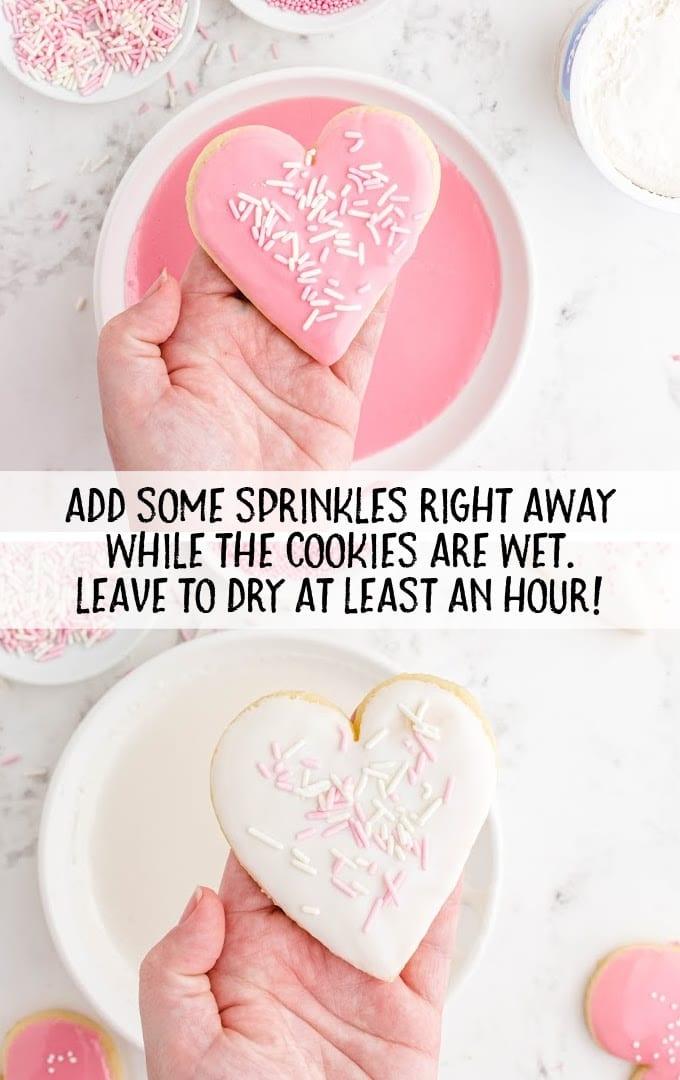 valentine sugar cookies process shot
