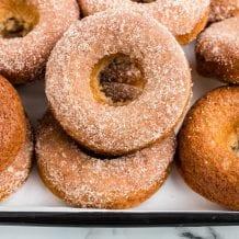 Applesauce Donuts Recipe with Cinnamon Sugar