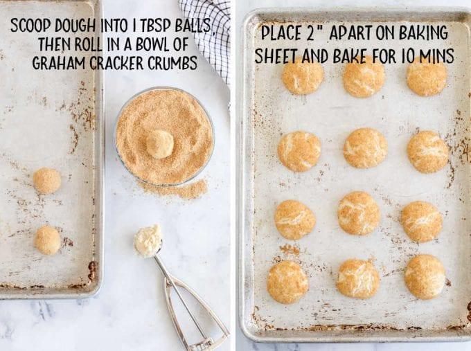 cherry cheesecake cookies process shot