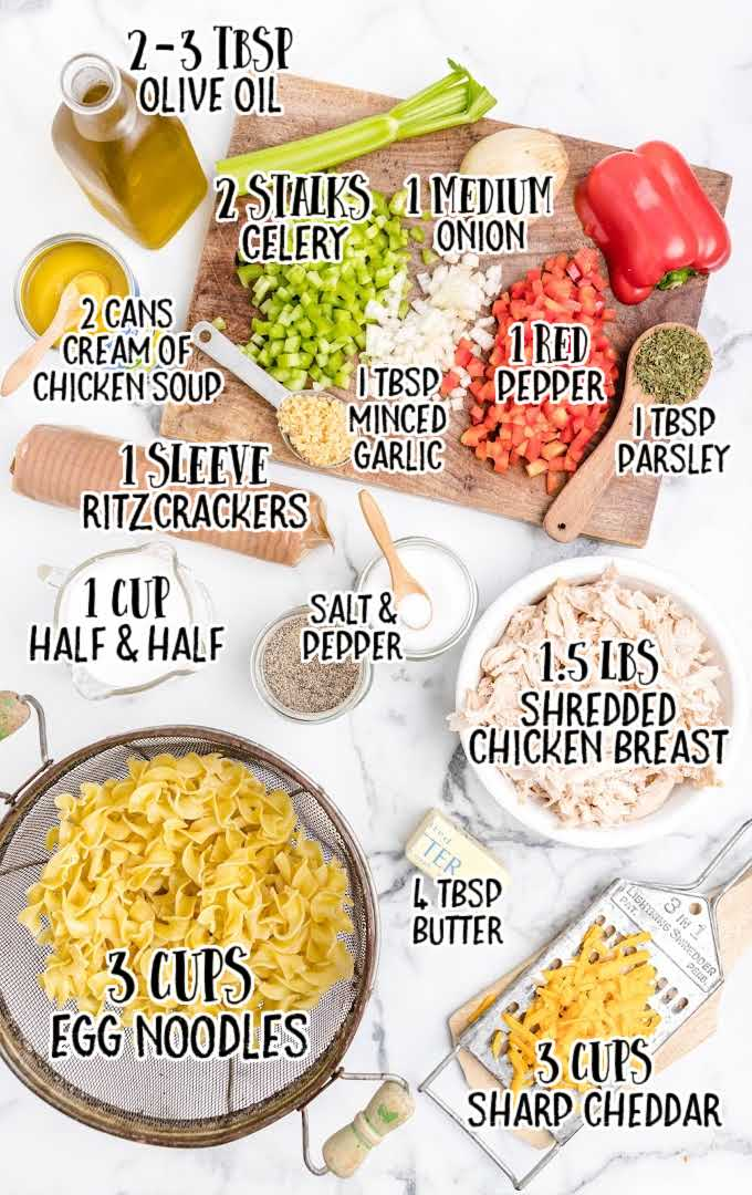 chicken casserole raw ingredients that are labeled