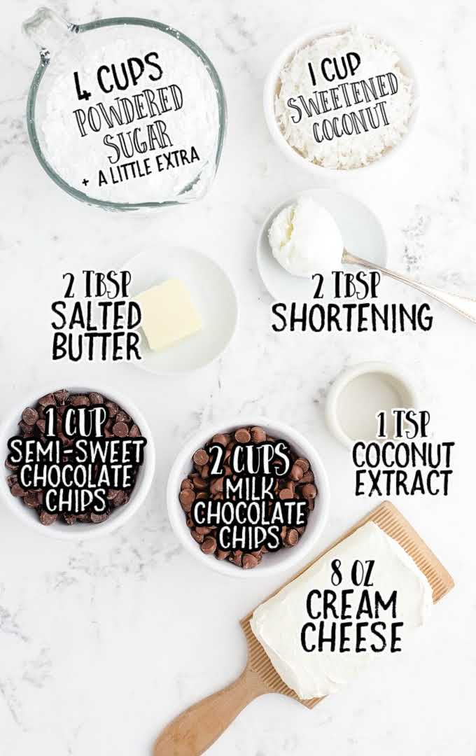 coconut cream chocolate easter eggs raw ingredients that are labeled