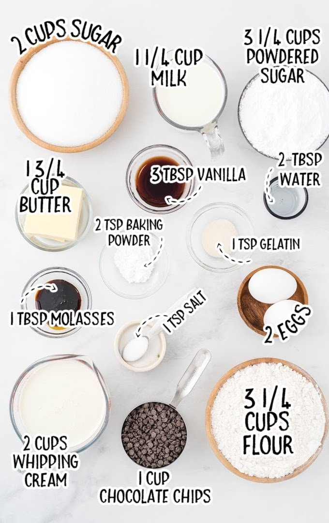 cookie dough cupcakes use ingredients that are labeled
