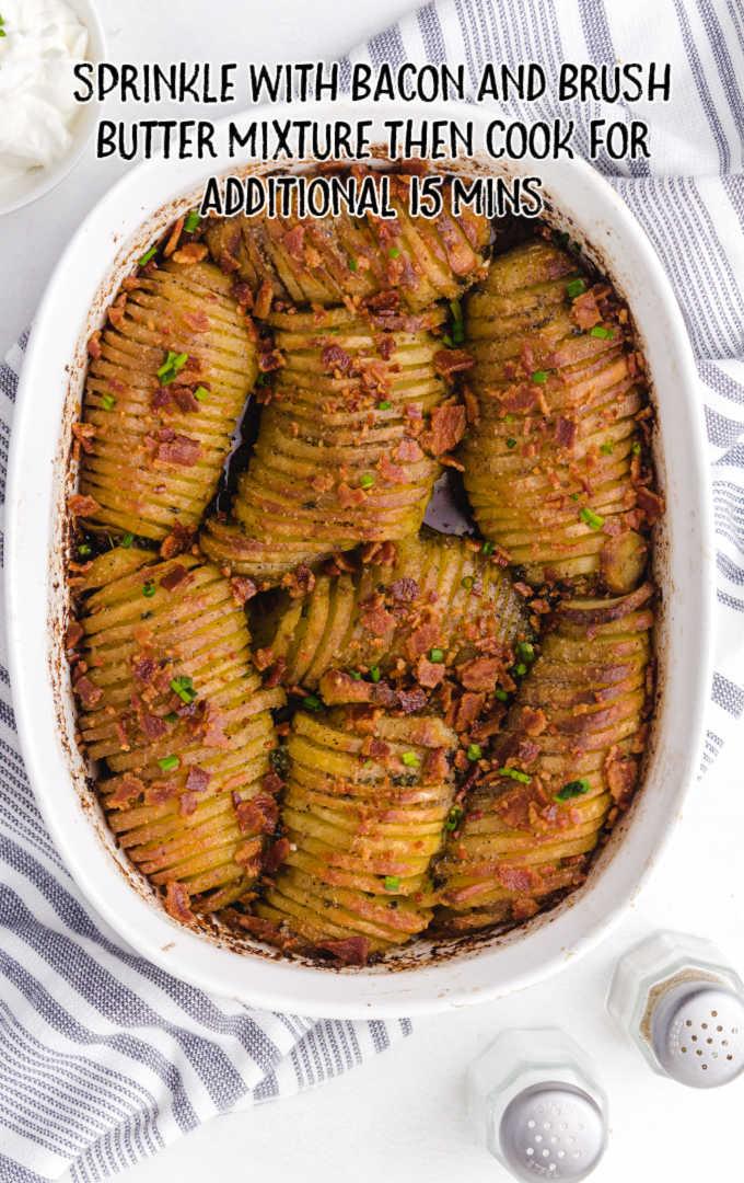 hasselback potato casserole process shot
