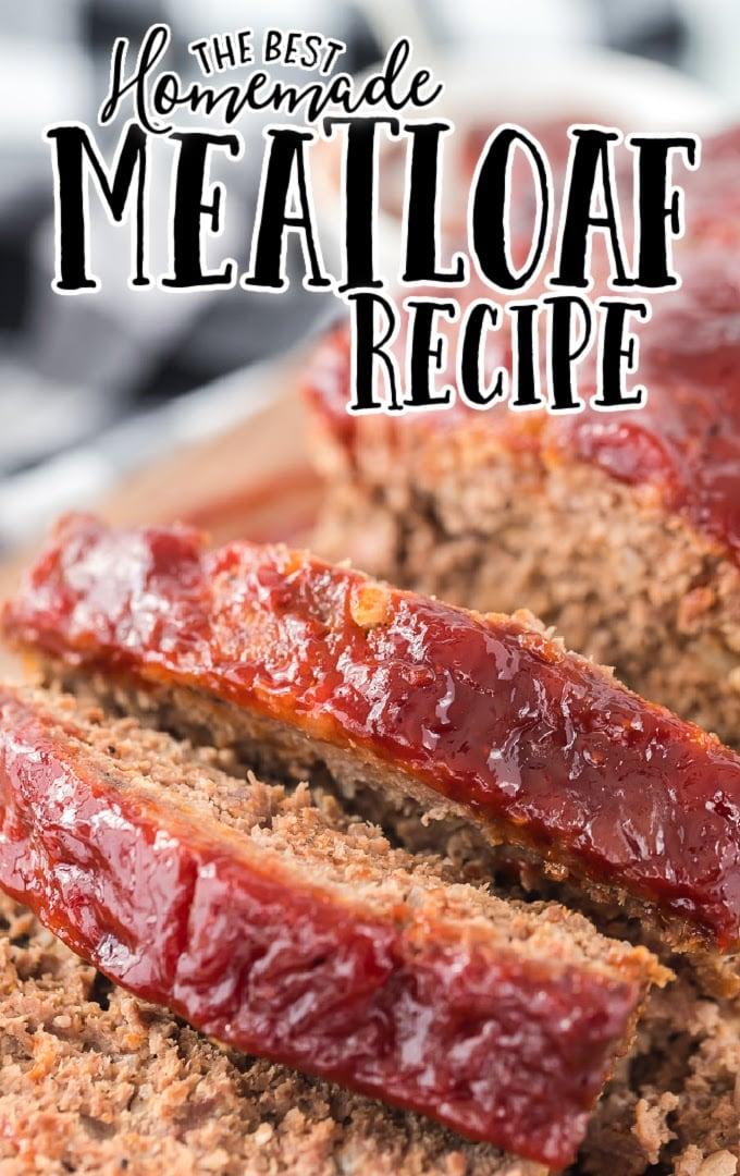 close up shot of meatloaf sliced