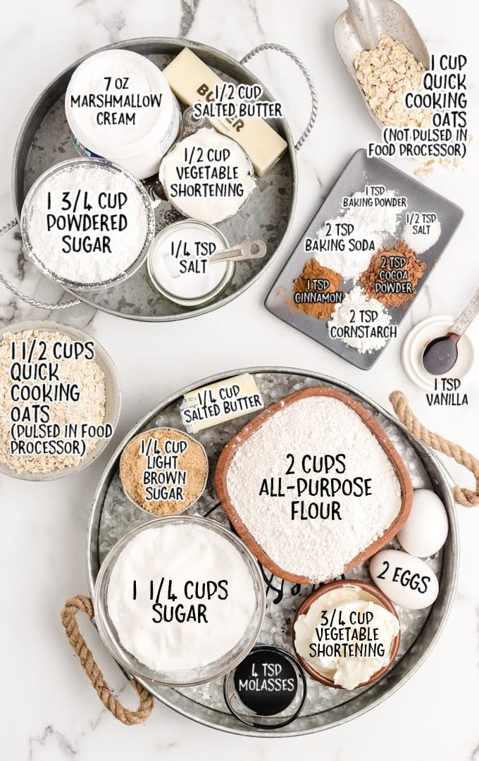 oatmeal cream pies raw ingredients that are labeled