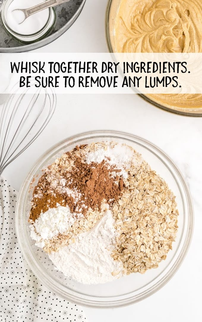 oatmeal cream pies process shot of ingredients added to a bowl