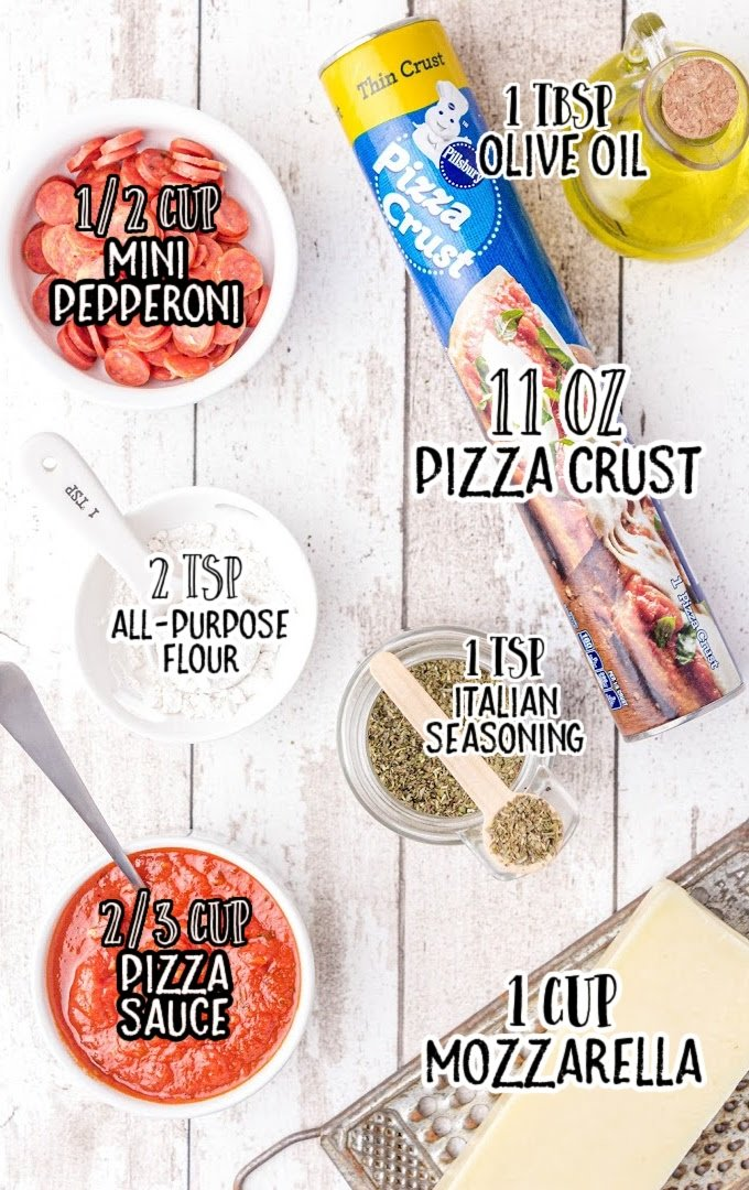 pizza pockets raw ingredients that are labeled