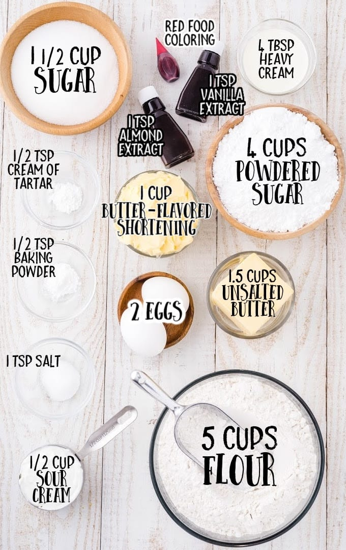 swig sugar cookie raw ingredients that are labeled
