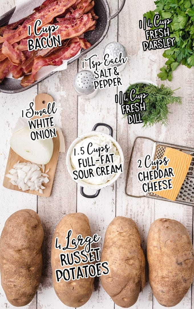 twice baked potato casserole raw ingredients that are labeled