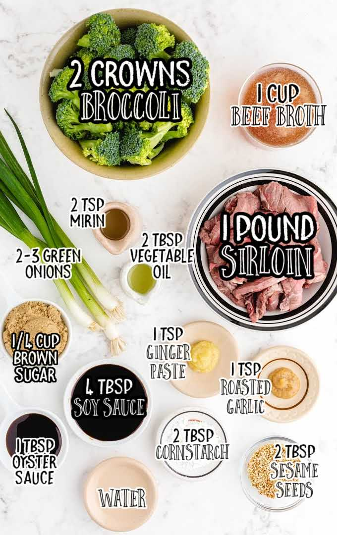 beef and broccoli raw ingredients that are labeled