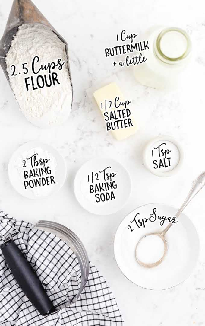 buttermilk biscuits raw ingredients that are labeled