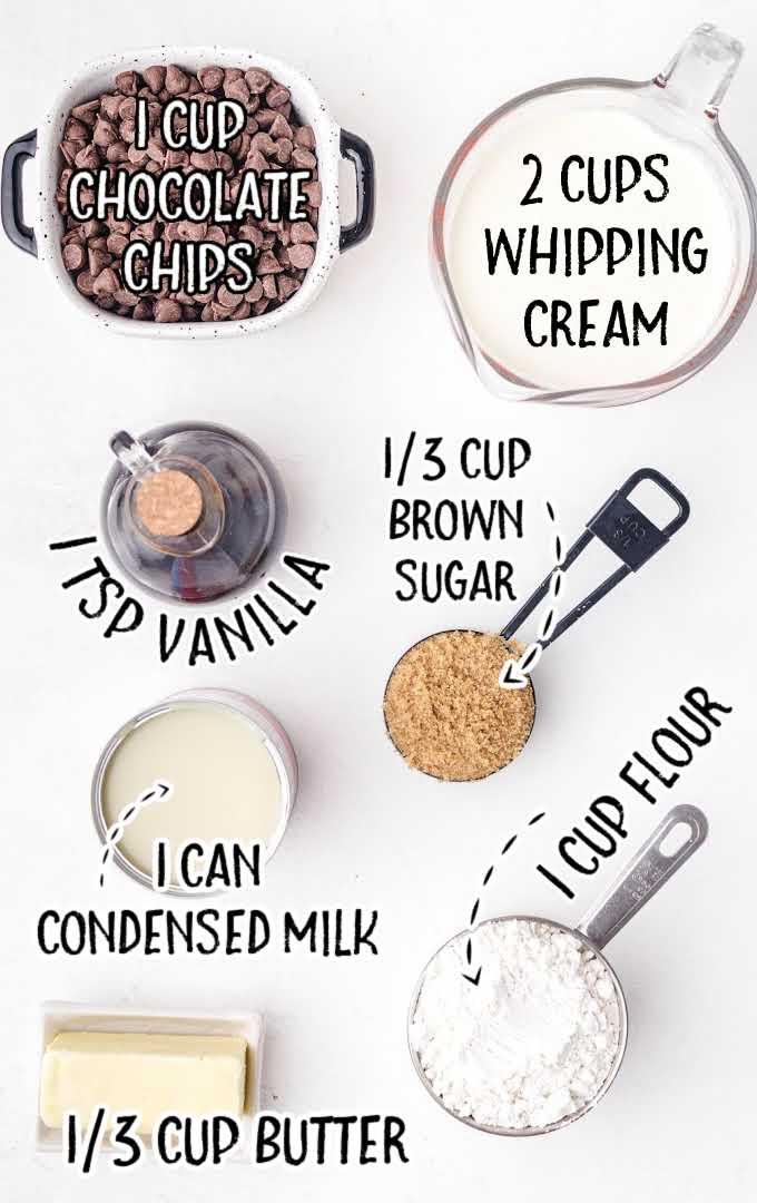 Cookie Dough Ice Cream raw ingredients that are labeled