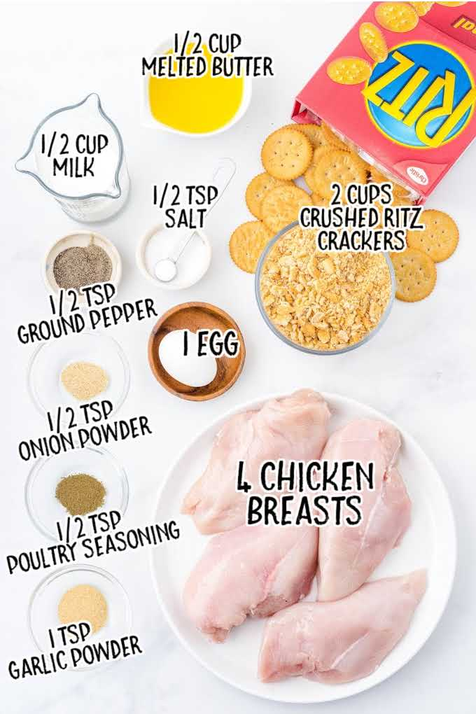 ritz cracker chicken raw ingredients that are labeled