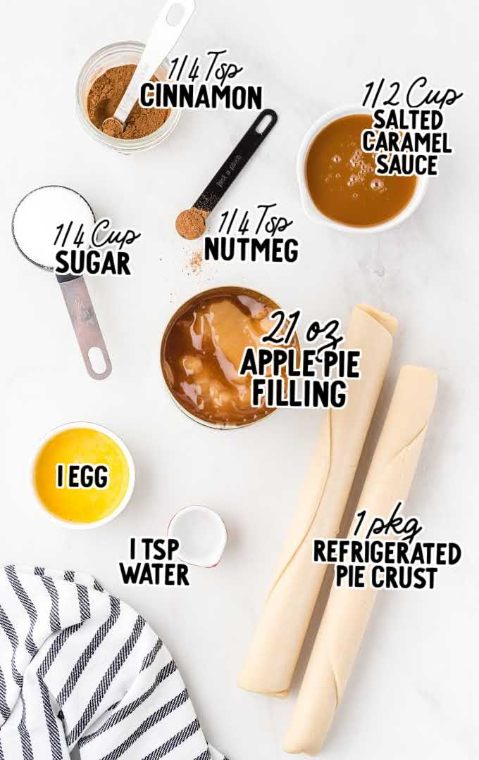 apple pie cookies raw ingredients that are labeled