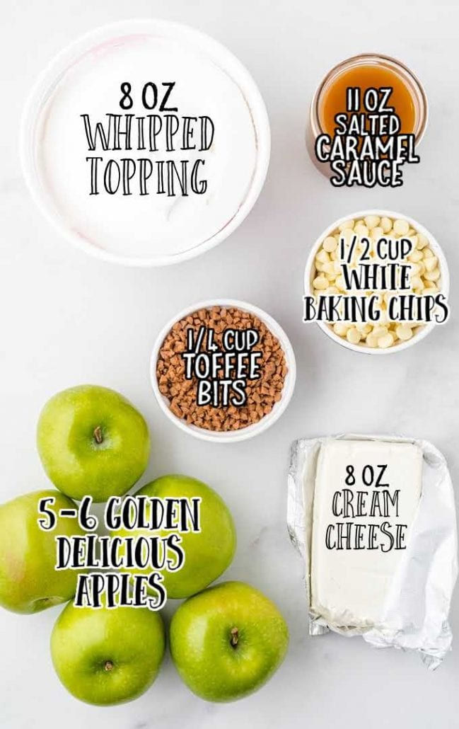 caramel apple dip raw ingredients that are labeled