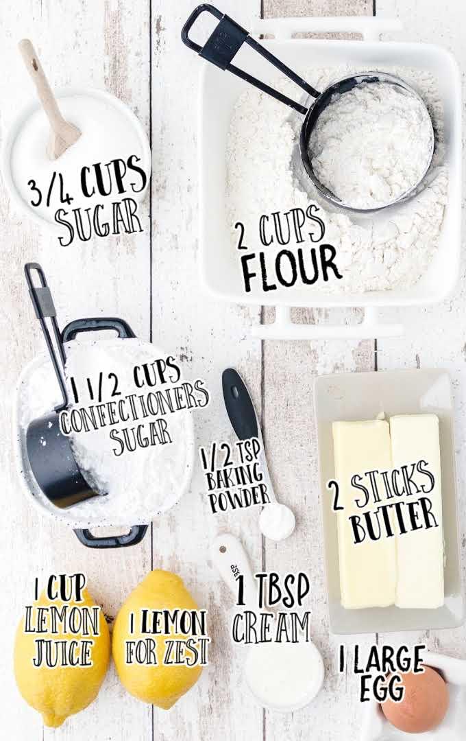 lemon meltaway cookies raw ingredient that are labeled
