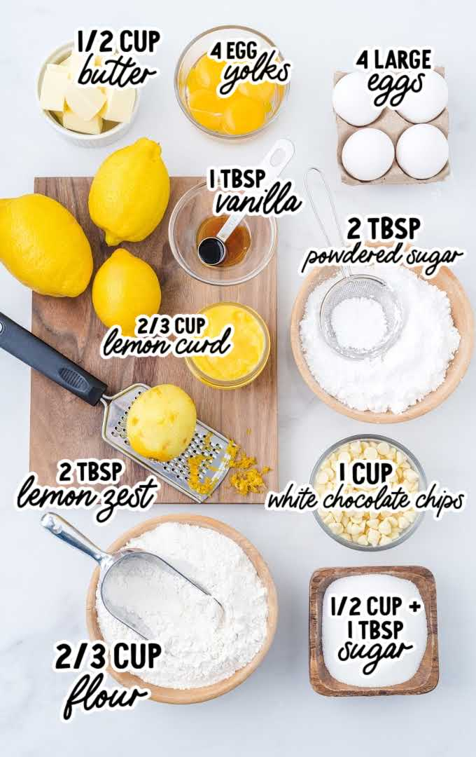 lemon lava cake raw ingredients that are labeled