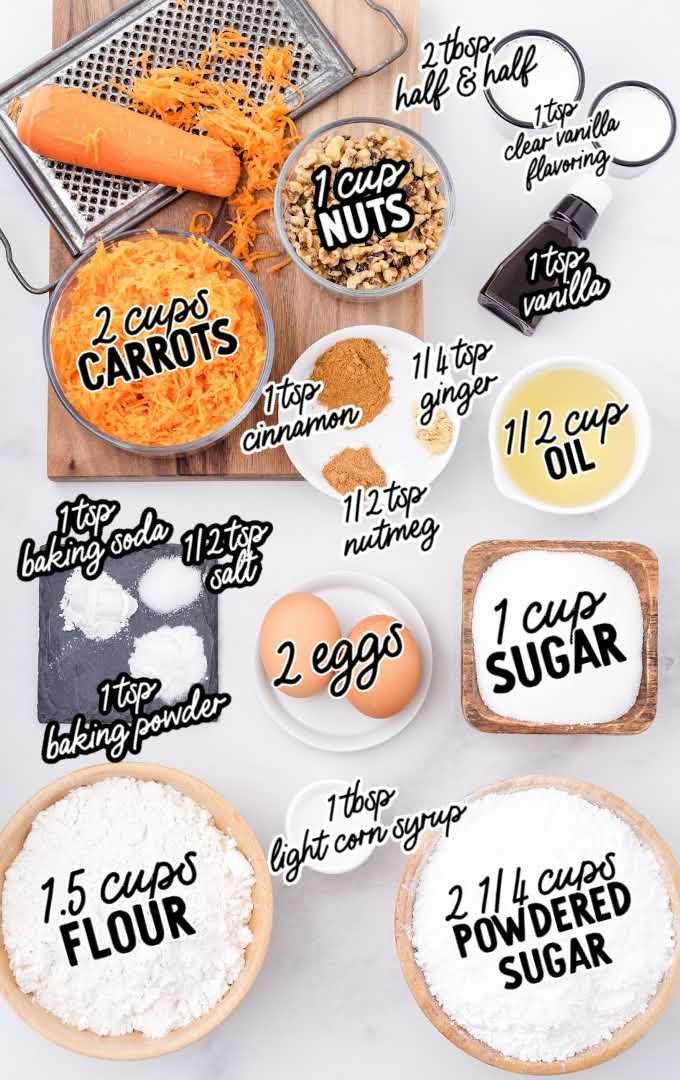 carrot bread raw ingredients that are labeled