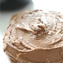 close up shot of air fryer chocolate cake